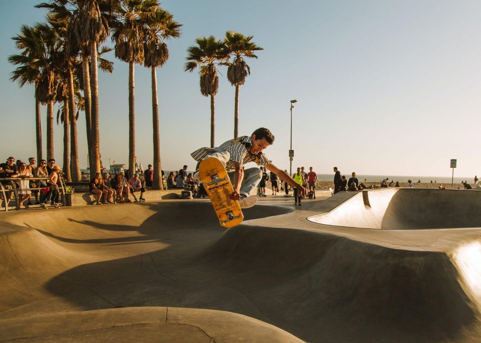Skateboarding on Venice Beach
